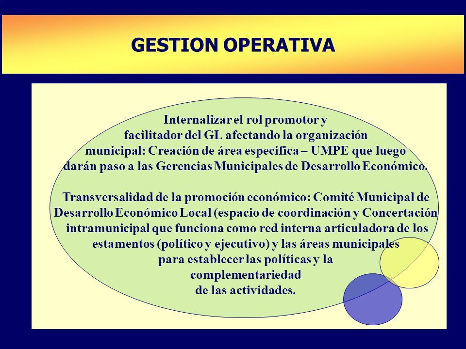 GESTION OPERATIVA PLAN DE DESARROLLO DE CAPACIDADES