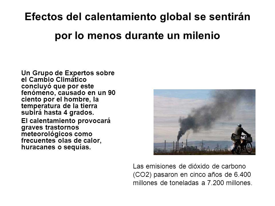Efectos del calentamiento global se sentirán por lo menos durante un milenio