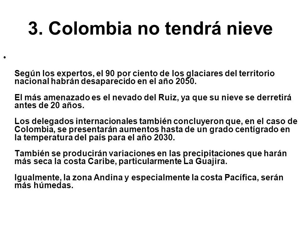 3. Colombia no tendrá nieve