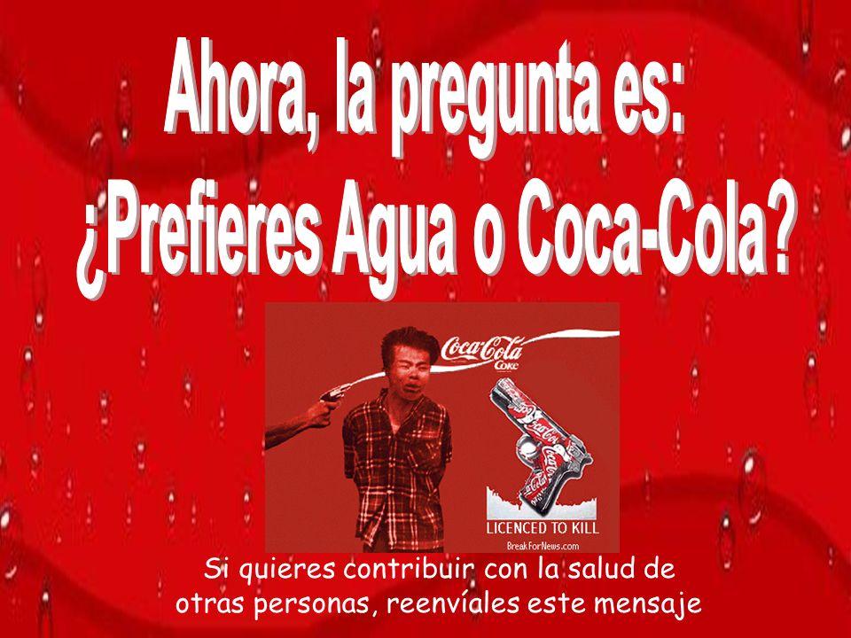 ¿Prefieres Agua o Coca-Cola