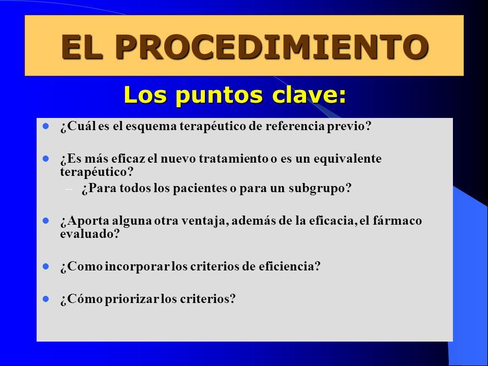 EL PROCEDIMIENTO Los puntos clave: