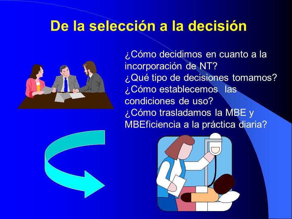 De la selección a la decisión