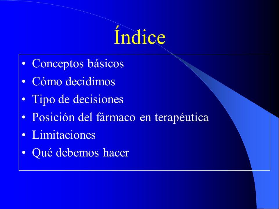 Índice Conceptos básicos Cómo decidimos Tipo de decisiones