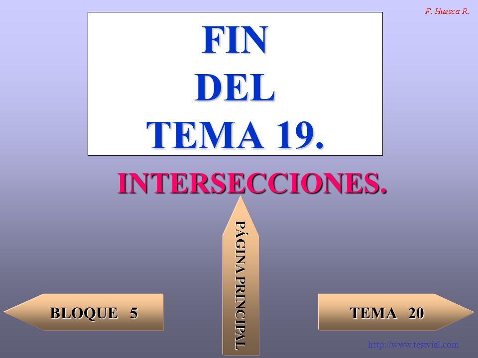 FIN DEL TEMA 19. INTERSECCIONES. PÁGINA PRINCIPAL BLOQUE 5 TEMA 20