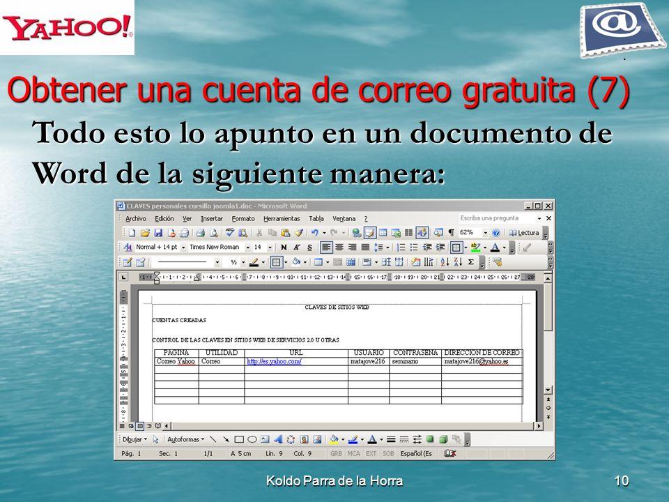 Obtener una cuenta de correo gratuita (7)
