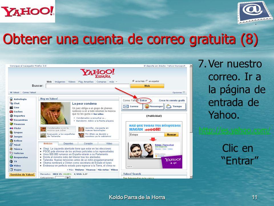 Obtener una cuenta de correo gratuita (8)