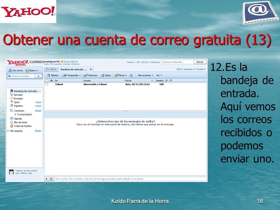 Obtener una cuenta de correo gratuita (13)