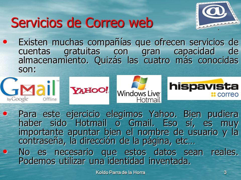 Servicios de Correo web