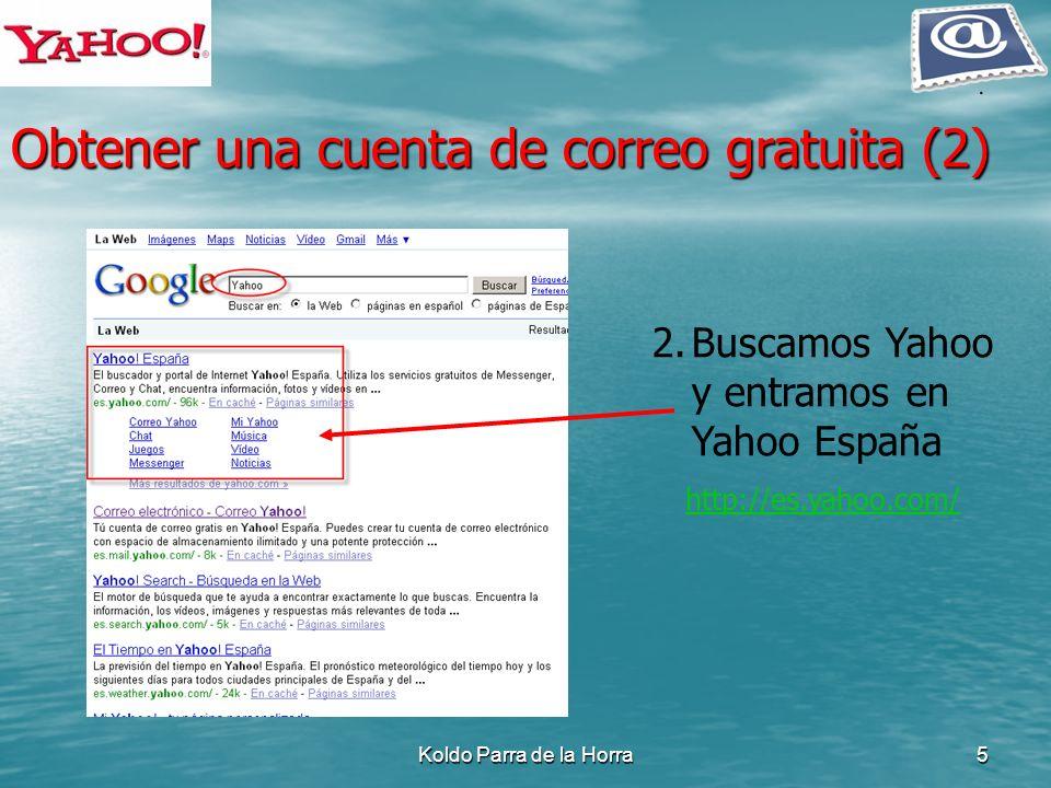 Obtener una cuenta de correo gratuita (2)