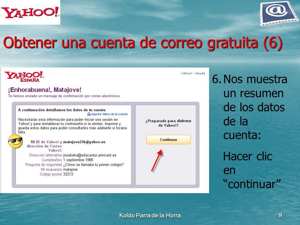 Obtener una cuenta de correo gratuita (6)