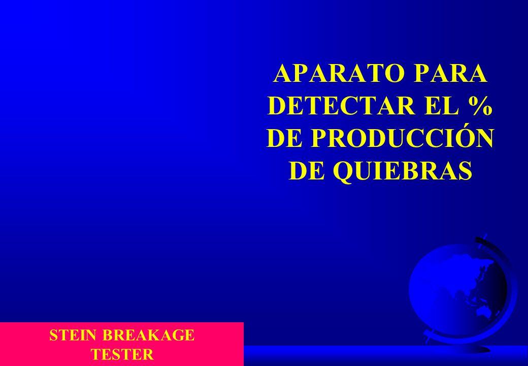 APARATO PARA DETECTAR EL % DE PRODUCCIÓN DE QUIEBRAS