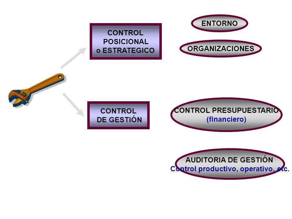 CONTROL PRESUPUESTARIO Control productivo, operativo, etc.