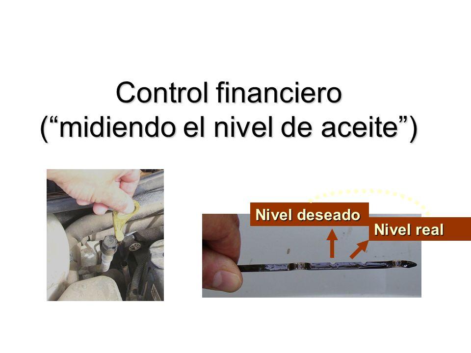 Control financiero ( midiendo el nivel de aceite )