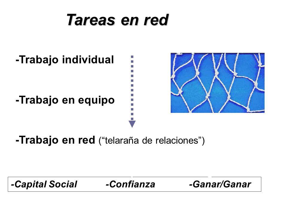 Tareas en red -Trabajo individual -Trabajo en equipo