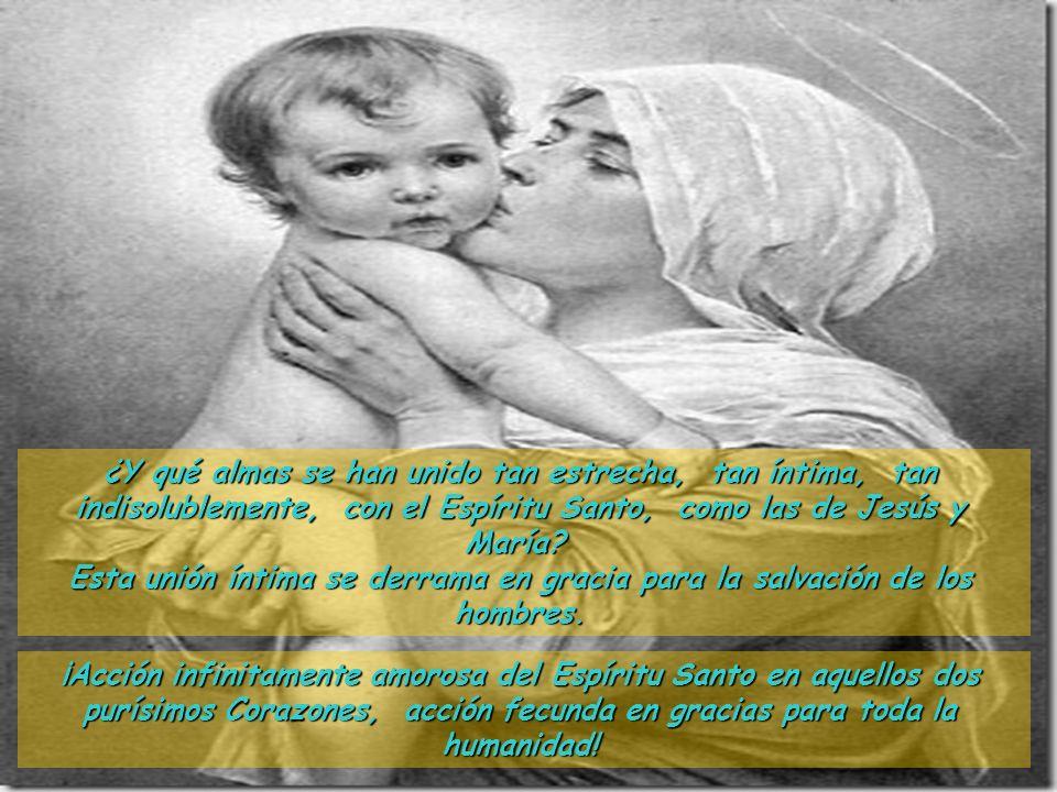 ¿Y qué almas se han unido tan estrecha, tan íntima, tan indisolublemente, con el Espíritu Santo, como las de Jesús y María