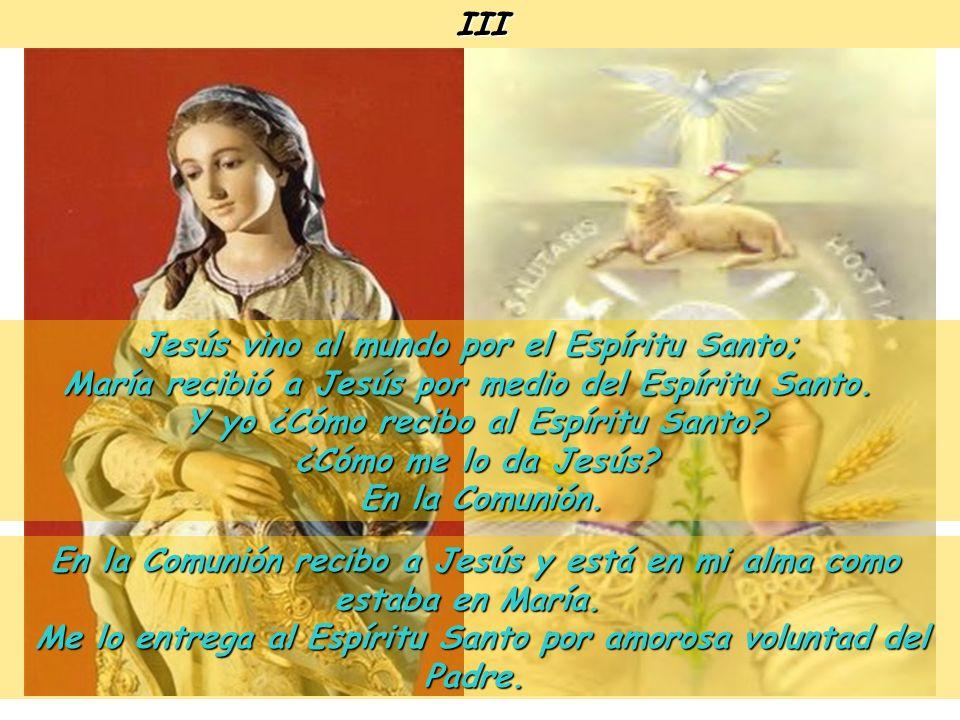 Jesús vino al mundo por el Espíritu Santo;