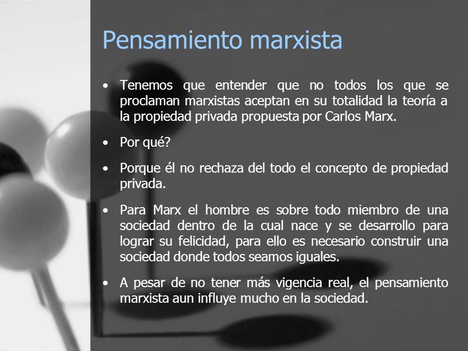Pensamiento marxista