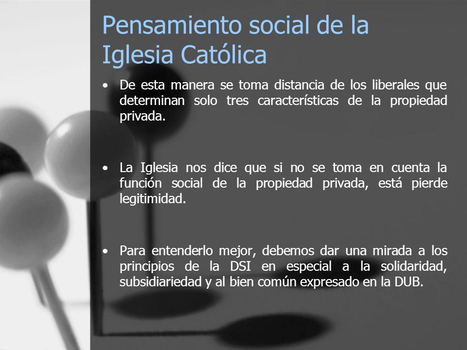 Pensamiento social de la Iglesia Católica