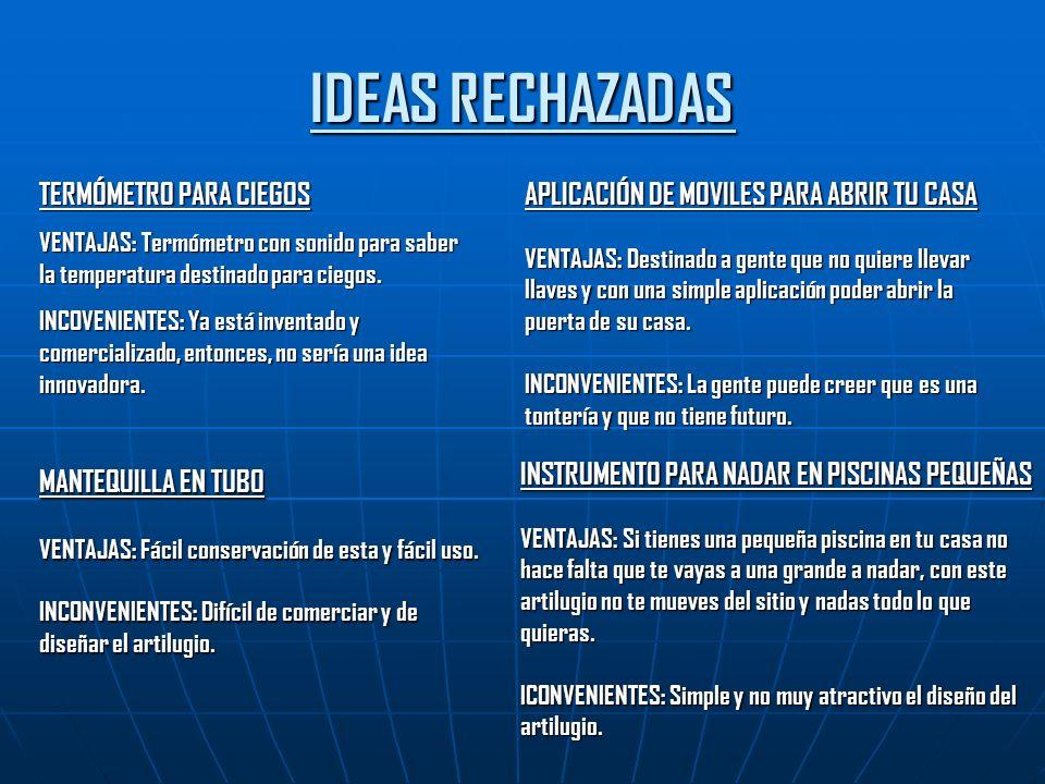 IDEAS RECHAZADAS TERMÓMETRO PARA CIEGOS