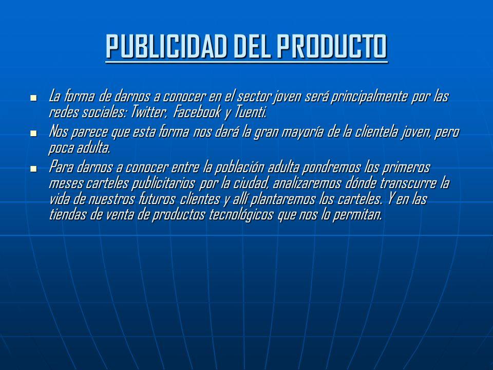 PUBLICIDAD DEL PRODUCTO