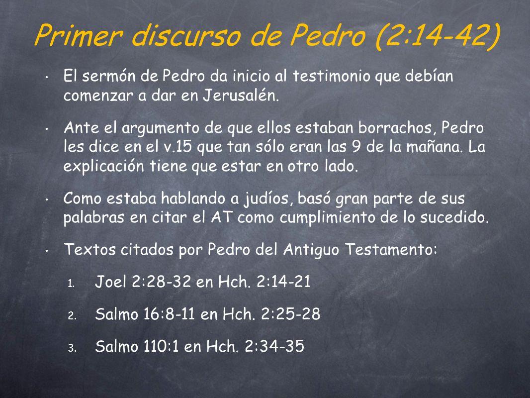 Primer discurso de Pedro (2:14-42)