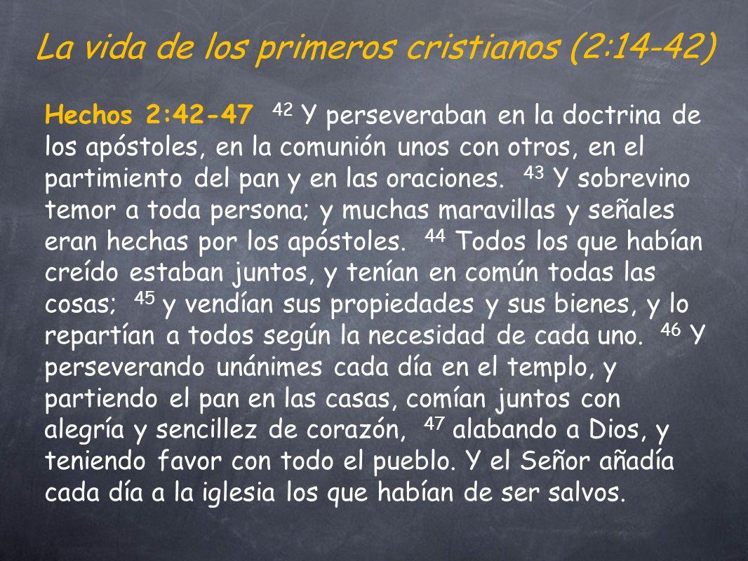 La vida de los primeros cristianos (2:14-42)