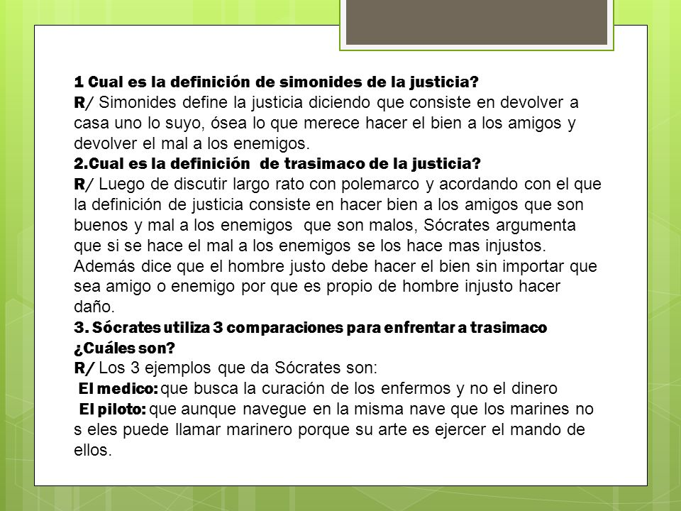1 Cual es la definición de simonides de la justicia