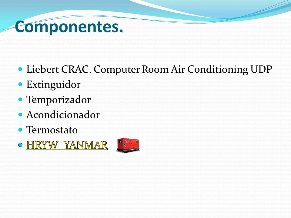 Componentes. Liebert CRAC, Computer Room Air Conditioning UDP