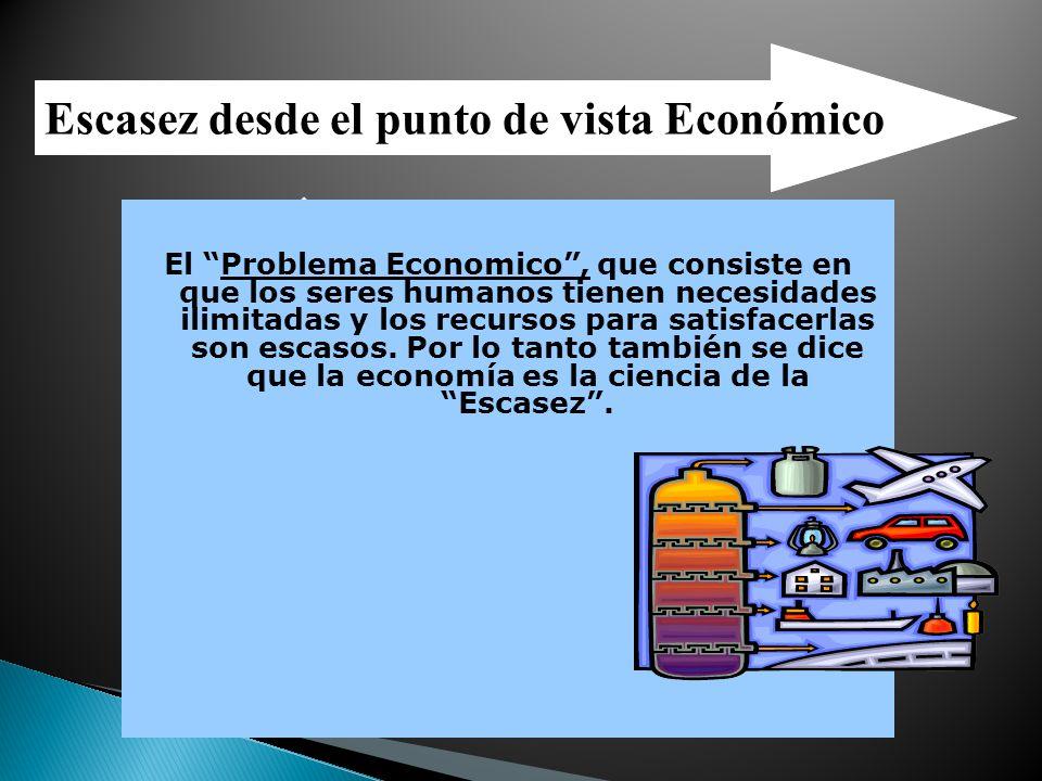 Escasez desde el punto de vista Económico