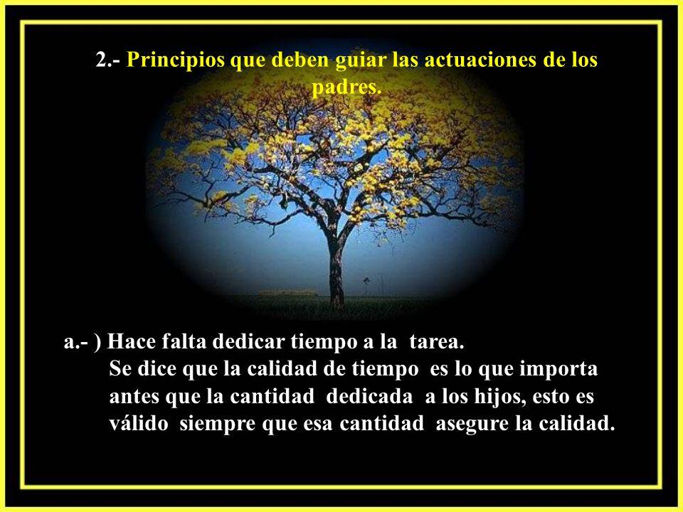 2.- Principios que deben guiar las actuaciones de los padres.