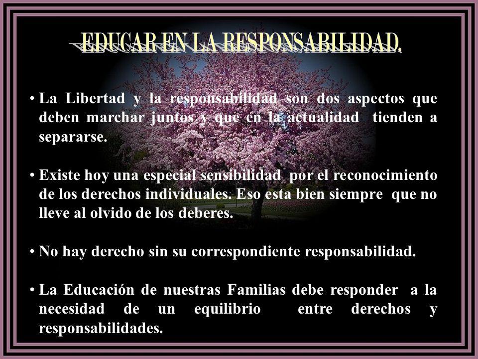 EDUCAR EN LA RESPONSABILIDAD.