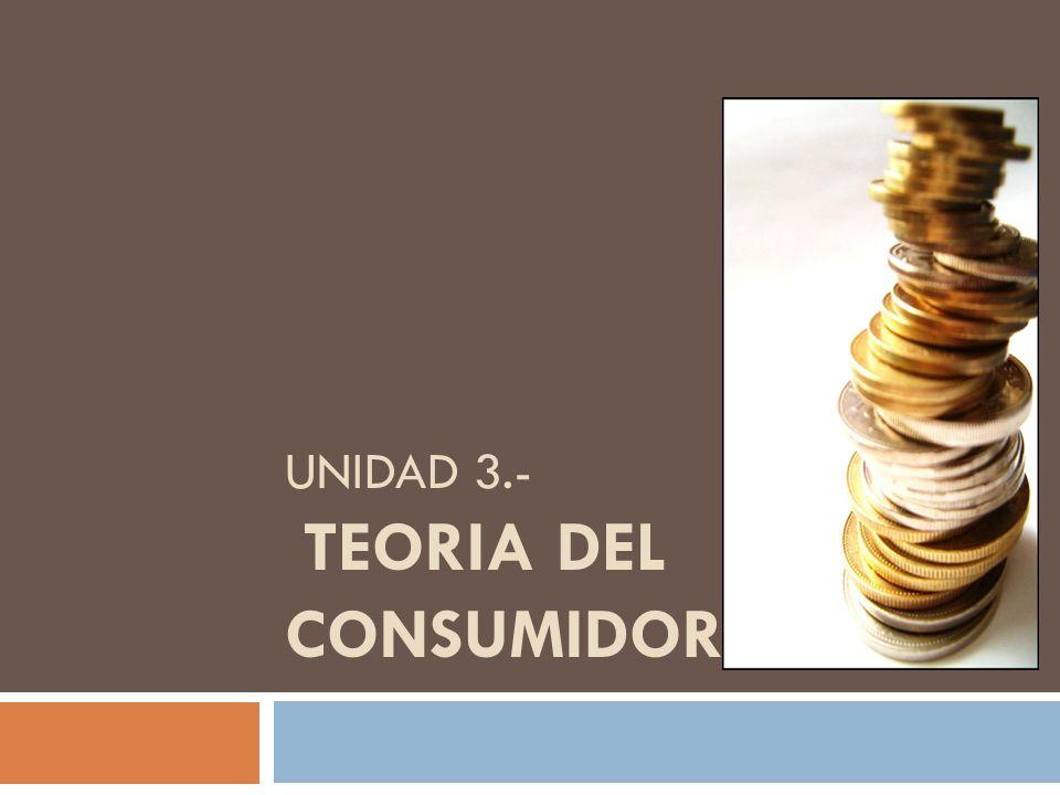 UNIDAD 3.- TEORIA DEL CONSUMIDOR