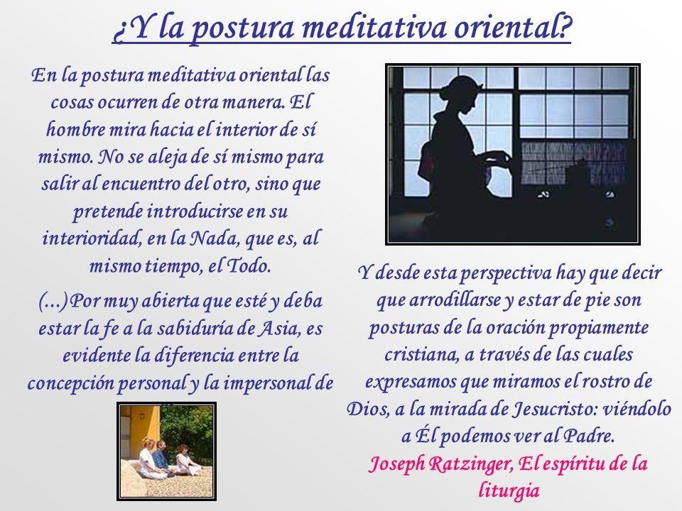 ¿Y la postura meditativa oriental