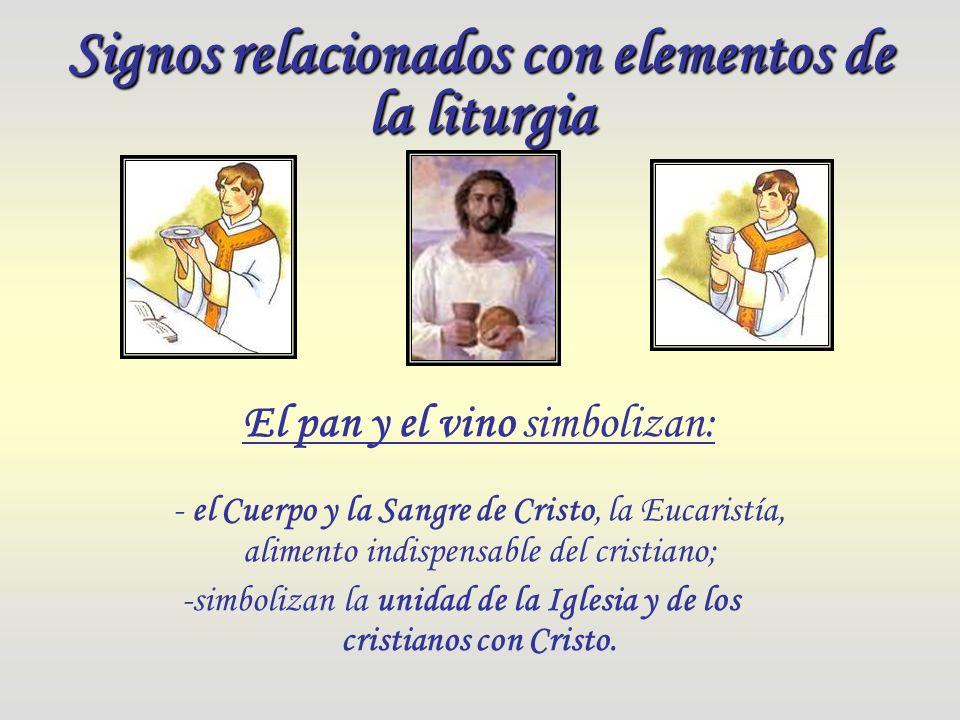 Signos relacionados con elementos de la liturgia
