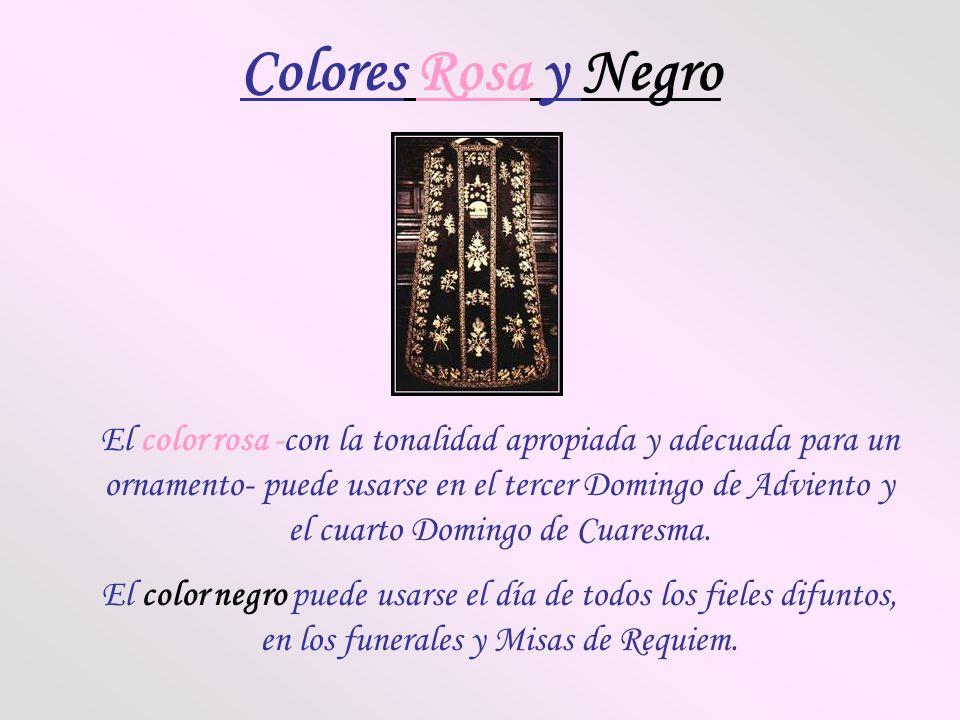 Colores Rosa y Negro