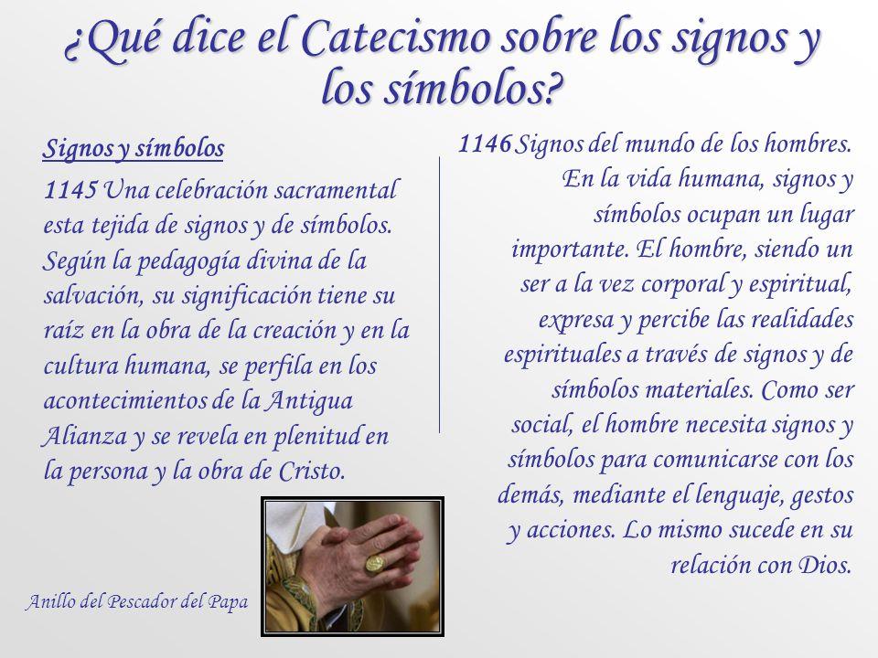 ¿Qué dice el Catecismo sobre los signos y los símbolos