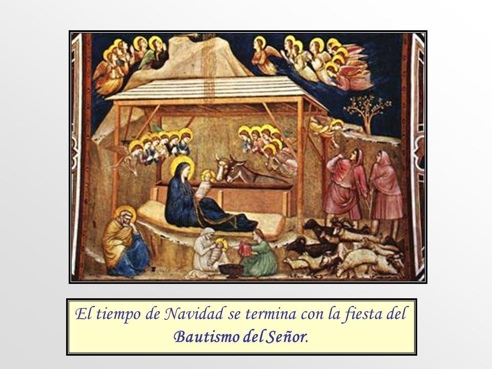 El tiempo de Navidad se termina con la fiesta del Bautismo del Señor.