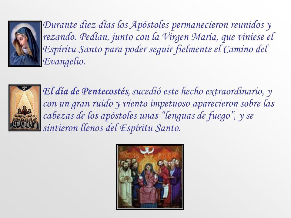 Durante diez días los Apóstoles permanecieron reunidos y rezando
