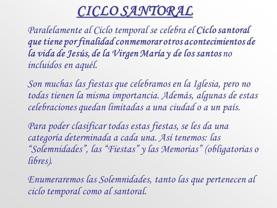 CICLO SANTORAL