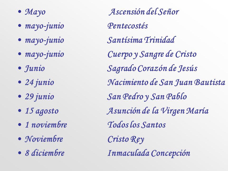 Mayo Ascensión del Señor