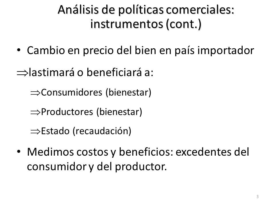 Análisis de políticas comerciales: instrumentos (cont.)