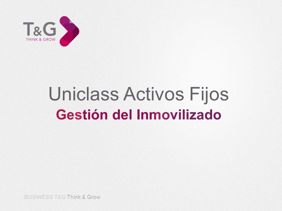 Uniclass Activos Fijos Gestión del Inmovilizado