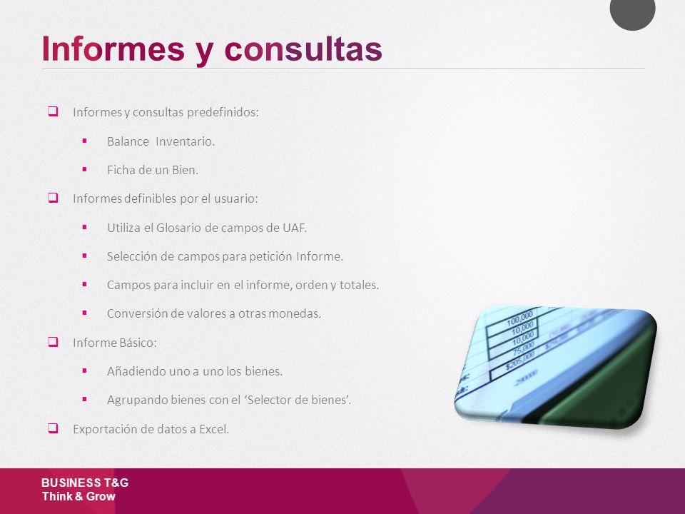 Informes y consultas Informes y consultas predefinidos: