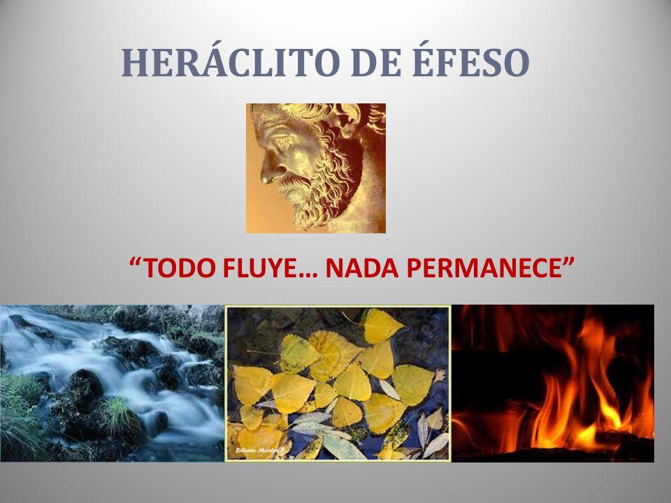 HERÁCLITO DE ÉFESO TODO FLUYE… NADA PERMANECE