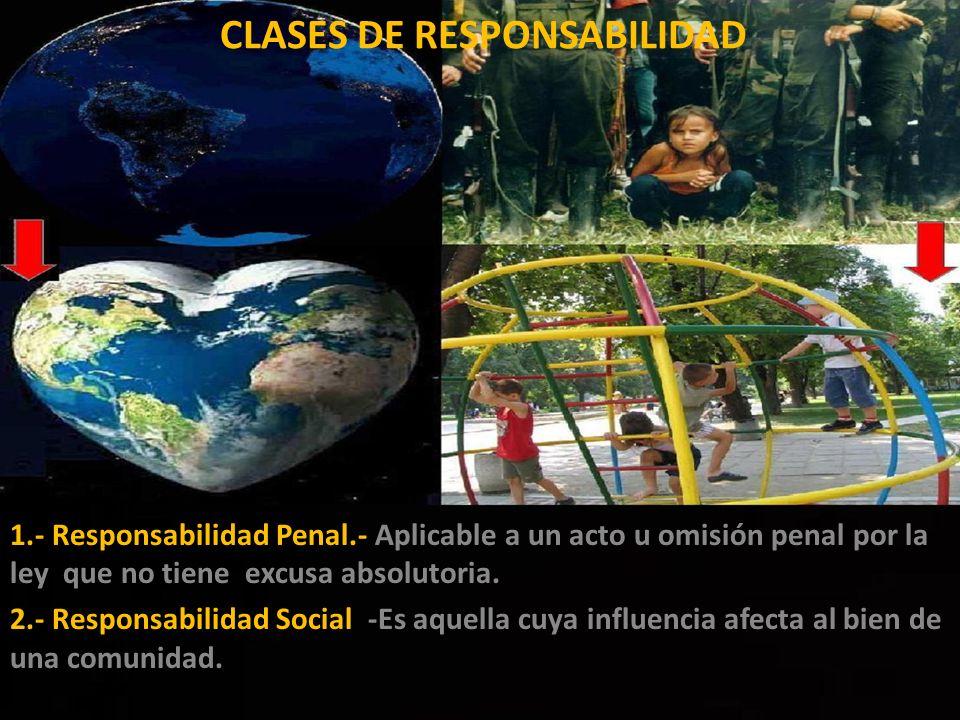 CLASES DE RESPONSABILIDAD