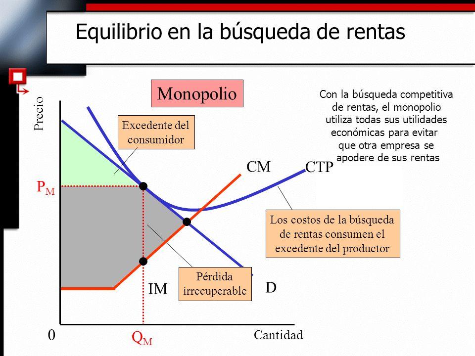 Equilibrio en la búsqueda de rentas