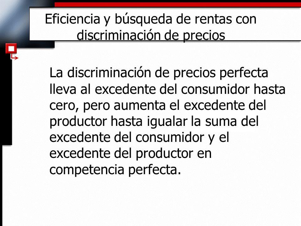Eficiencia y búsqueda de rentas con discriminación de precios