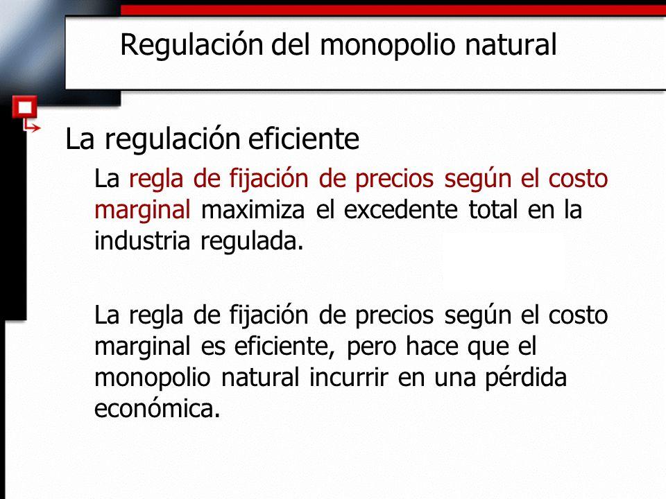 Regulación del monopolio natural
