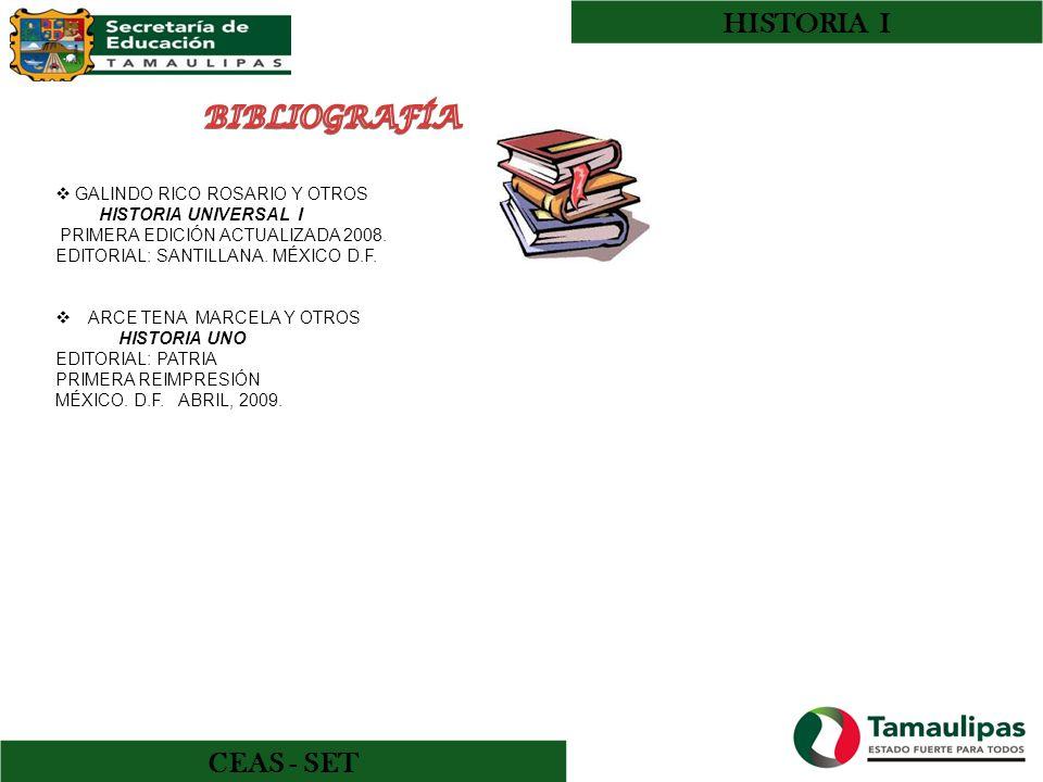 HISTORIA I BIBLIOGRAFÍA CEAS - SET GALINDO RICO ROSARIO Y OTROS