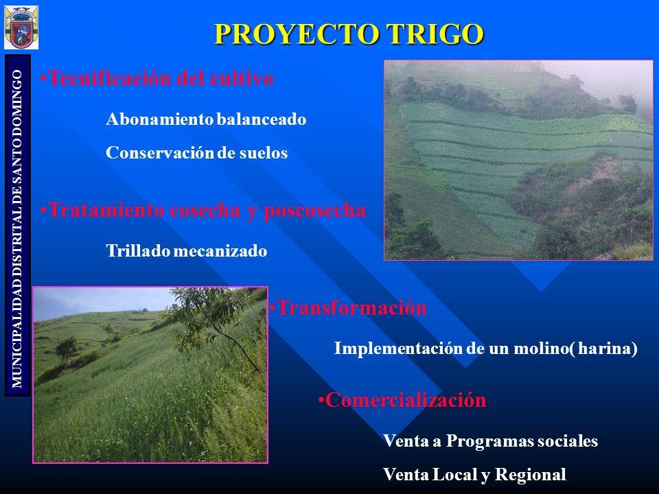 PROYECTO TRIGO Tecnificación del cultivo Abonamiento balanceado